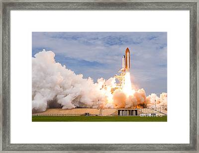 Last Space Shutte Launch - 135 Framed Print by Chris Cook