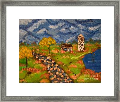 Framed Print featuring the painting Last Spring by Denise Tomasura