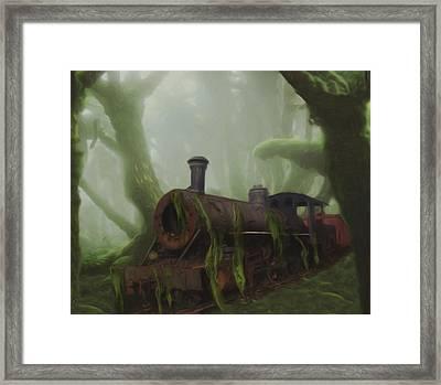 Last Stop Framed Print by Jack Zulli