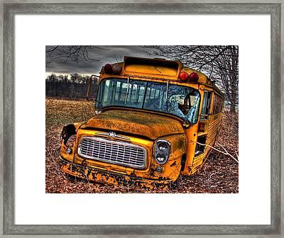 Last Stop Framed Print by Steve Ratliff