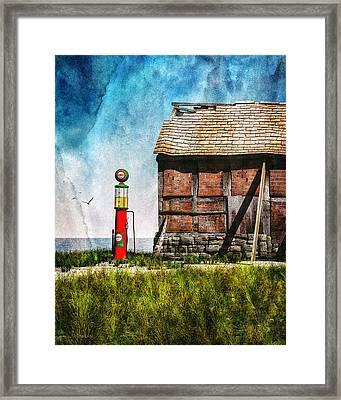 Last Stop Texaco Framed Print by Bob Orsillo
