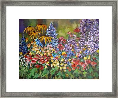 Last Summer's Flowers Framed Print
