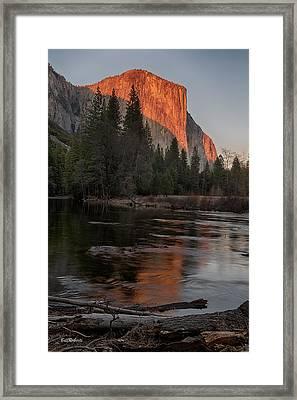 Last Sun On El Capitan Framed Print