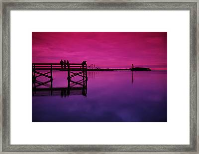 Last Sunset Framed Print