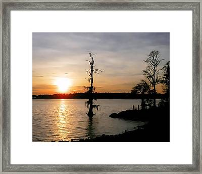 Framed Print featuring the photograph Last Sunset Of 2012 by Victor Montgomery