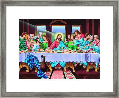 Last Supper Framed Print by Patrick Hoenderkamp