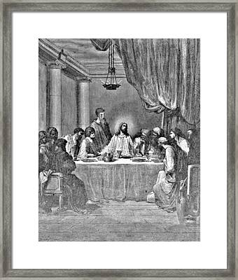 Last Supper Biblical Illustration Framed Print