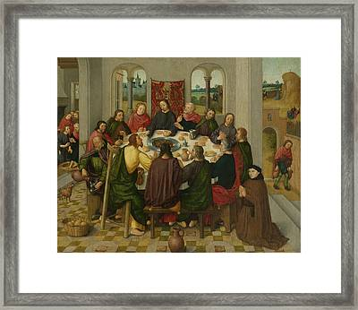 Last Supper, Circle Of Master Of The Amsterdam Death Framed Print