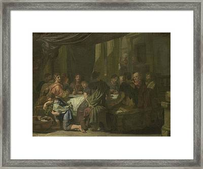 Last Supper, Gerard De Lairesse Framed Print