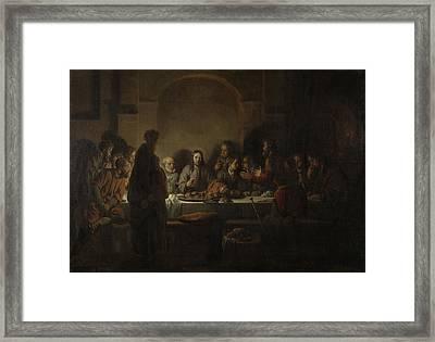 Last Supper, Gerbrand Van Den Eeckhout Framed Print by Litz Collection