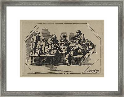 Last Supper, Jan Tersteeg Framed Print