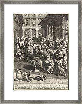 Last Supper, Johann Sadeler I, Anonymous Framed Print
