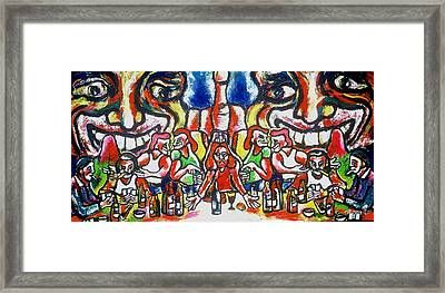 Last Supper Party The Present Vulgarity Framed Print