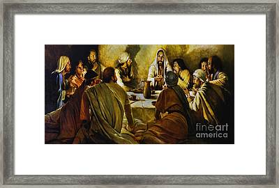 Last Supper Reproduction Framed Print by Al Bourassa