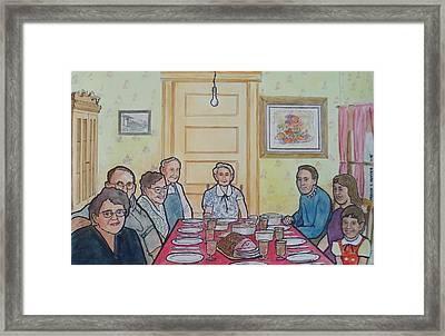 Last Supper Together 1957 Framed Print