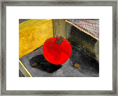 Last Tomato Framed Print by Larry Farris