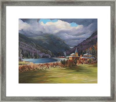 Last Train To Crawford Notch Depot Framed Print by Nancy Griswold