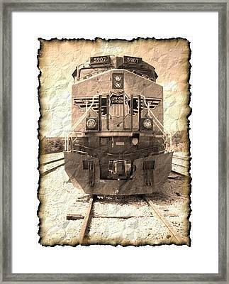 Last Train Framed Print by Wendy J St Christopher
