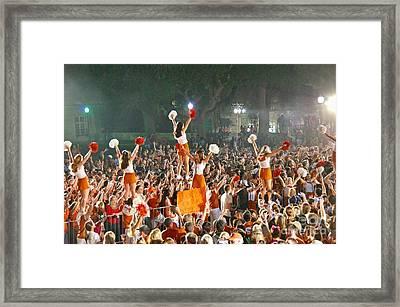 Last University Of Texas Hex Rally Framed Print