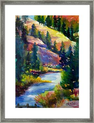 Last View Of The Truckee  Original Sold Framed Print by Therese Fowler-Bailey