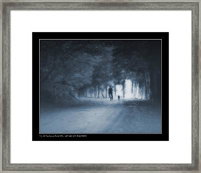 Last Walk With My Old Friend Framed Print