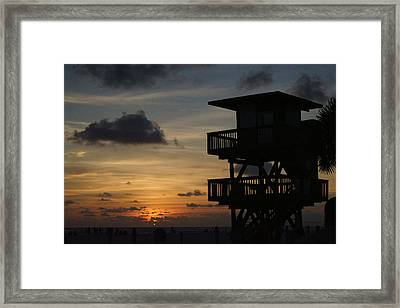 Last Watch Framed Print by Jean Macaluso