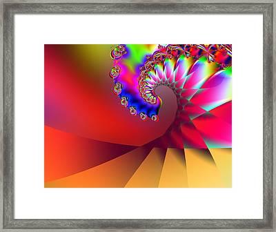Last Wave - Sunset Framed Print by Wendy J St Christopher
