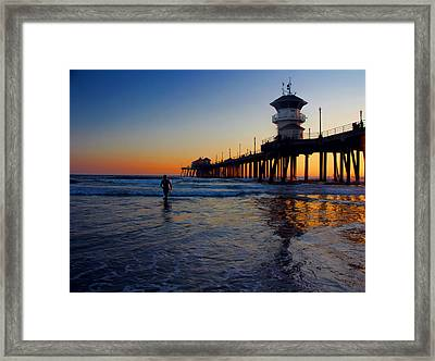 Last Wave Framed Print by Tammy Espino