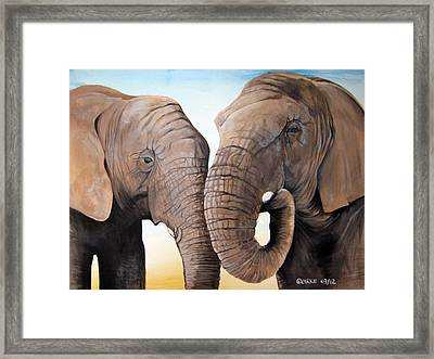 Latabe And Five Framed Print by Stacey Clarke