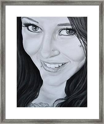 Latasha Framed Print by Jessica Tookey