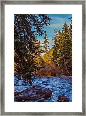 Late Afternoon Along The South Platte Framed Print by Mike Schaffner