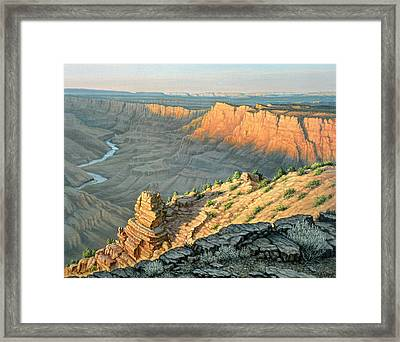 Late Afternoon-desert View Framed Print by Paul Krapf