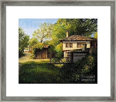 Late Afternoon In Bojenci Framed Print by Kiril Stanchev