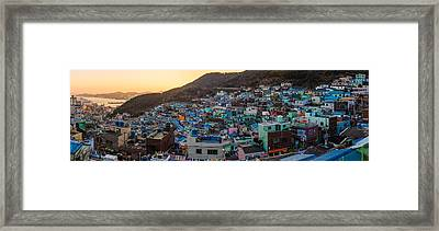 Late Afternoon In Gamcheon Framed Print