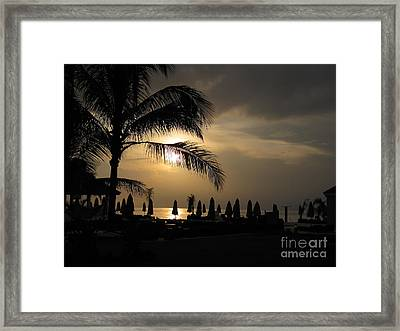 Late Afternoon In Mobay Framed Print by Addie Hocynec