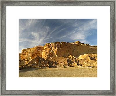 Late Afternoon In Pueblo Bonito Framed Print