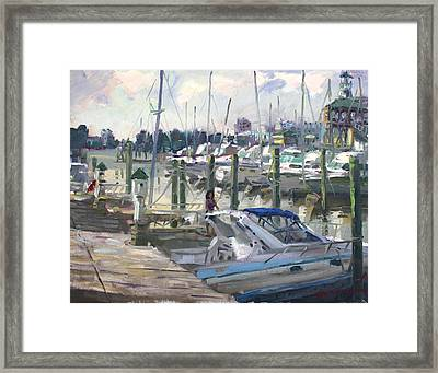 Late Afternoon In Virginia Harbor Framed Print