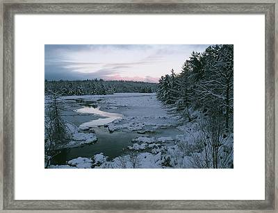 Framed Print featuring the photograph Late Afternoon In Winter by David Porteus