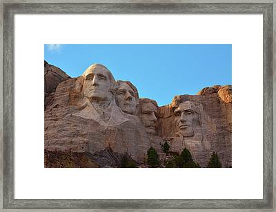 Late Afternoon, Mount Rushmore National Framed Print