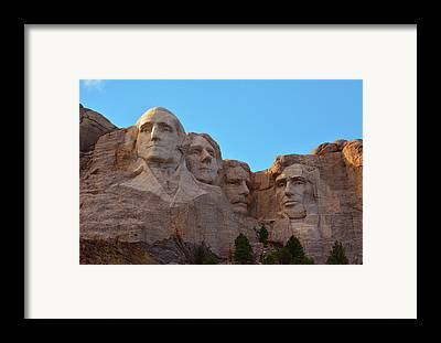 Mount Rushmore Framed Prints