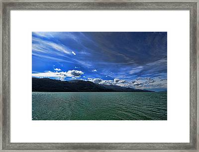 Late Afternoon On Harrison Lake Bc Framed Print