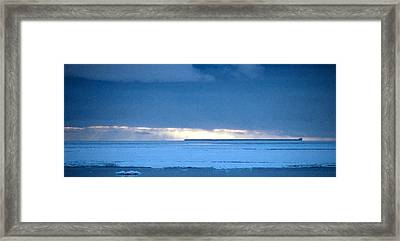 Late Afternoon Storm Antarctica Framed Print by Carole-Anne Fooks