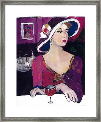 Framed Print featuring the painting Late Again by Elaine Elliott