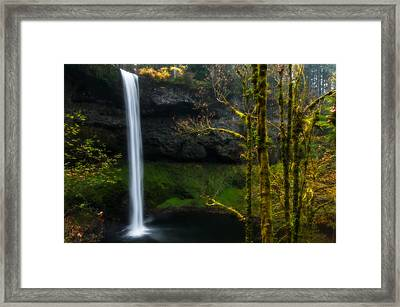 Late Autumn At Silver Falls Framed Print
