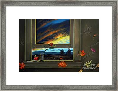 Late Autumn Breeze By Christopher Shellhammer Framed Print by Christopher Shellhammer
