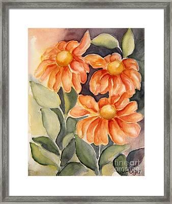 Late Autumn Flowers Framed Print