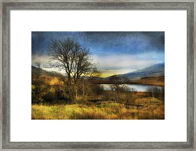 Snowdonia Autumn Lake Framed Print