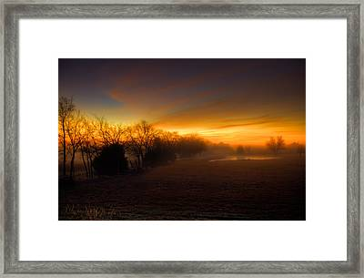 Late Autumn Sunrise Framed Print by Mark Alder