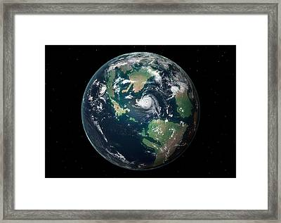 Late Cretaceous Earth Framed Print