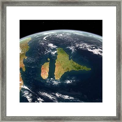 Late Cretaceous India Framed Print